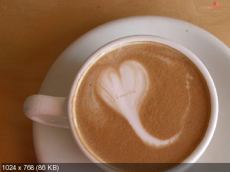 Love In Coffee Cup.