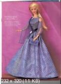 Выкройки красивых платьев для кукол типа Барби.