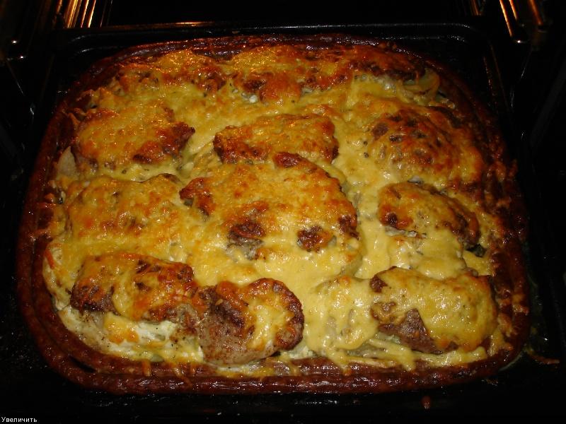 Картошка с мясом в духовке рецепт с пошаговым фото